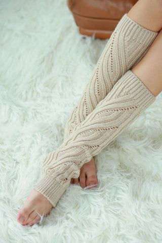 Cable Knit Leg Warmers - Assorted Colors - Blue Chic Boutique  - 1