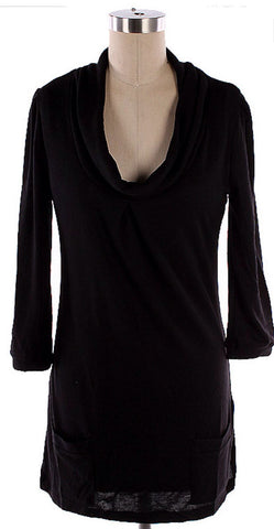 Tunic Top with pockets - Black - Blue Chic Boutique  - 2