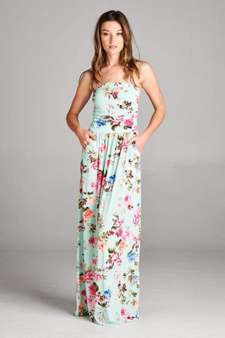 Garden Party Maxi Dress - Mint - Blue Chic Boutique  - 1