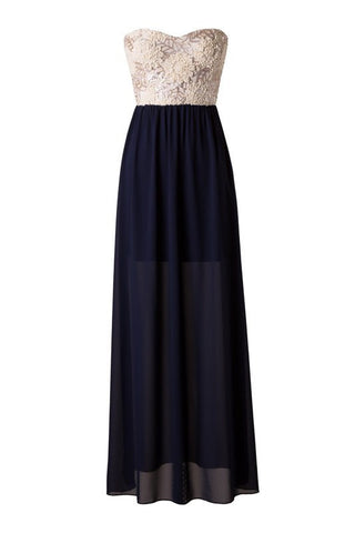 Subtle Sparkle Maxi Dress - Navy - Blue Chic Boutique  - 1