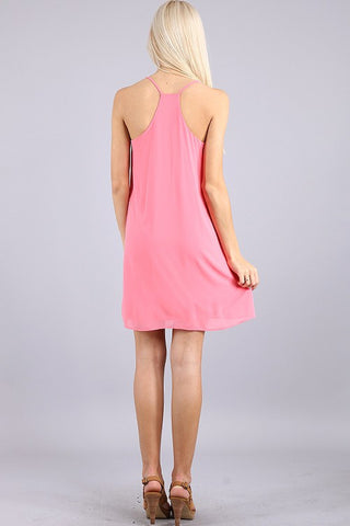 Dancing the Night Away Racerback Dress - Pink - Blue Chic Boutique  - 2