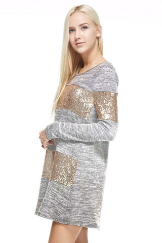 Celebrate in Sequins Dress - Light  Grey - Blue Chic Boutique  - 1
