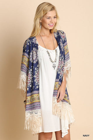 Lighthearted Summer Cardigan - Navy - Plus - Blue Chic Boutique  - 6