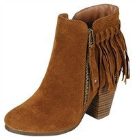 Fringe Booties - Tan - Blue Chic Boutique  - 2