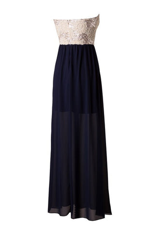 Subtle Sparkle Maxi Dress - Navy - Blue Chic Boutique  - 2