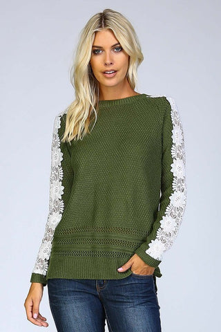 Fall Favorite Sweater - Olive - Blue Chic Boutique  - 1