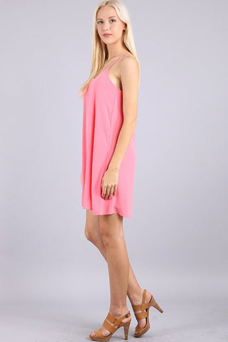 Dancing the Night Away Racerback Dress - Pink - Blue Chic Boutique  - 3