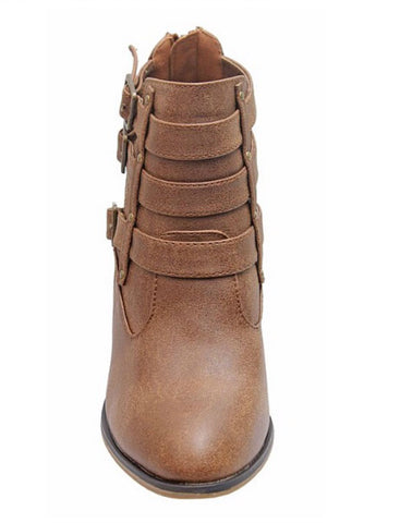 Buckle Ankle Boots - Tan - Blue Chic Boutique  - 8