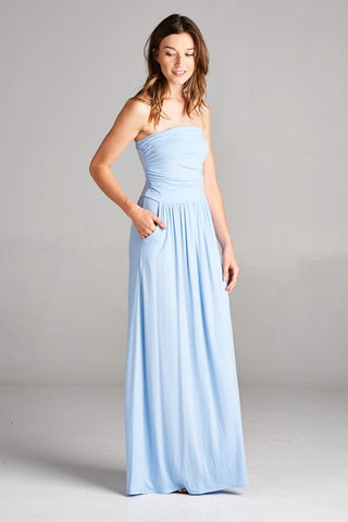 Simple and Stylish Maxi Dress - Light Blue - Blue Chic Boutique  - 2