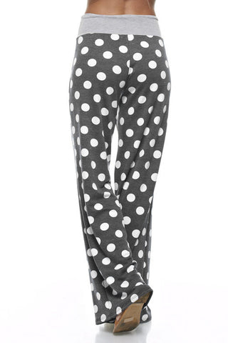 Casual Polka Dot Pants - Charcoal - Blue Chic Boutique  - 12
