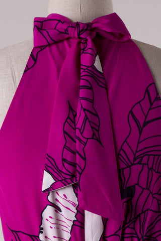 Tropical Breeze Maxi Dress - Magenta - Blue Chic Boutique  - 4