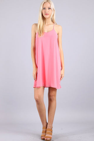 Dancing the Night Away Racerback Dress - Pink - Blue Chic Boutique  - 1