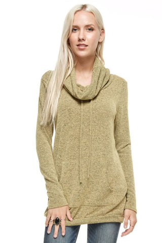 Cozy Fall Evening Top - Mustard - Blue Chic Boutique  - 2
