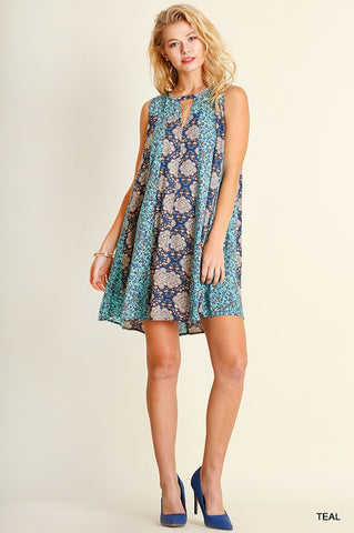 Shades of Blue Dress - Blue Chic Boutique  - 3