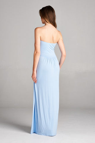 Simple and Stylish Maxi Dress - Light Blue - Blue Chic Boutique  - 3