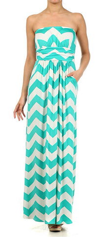 Ocean Breeze Maxi Dress - Jade - Blue Chic Boutique  - 1