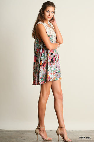 Wild Flowers Dress - Pink Mix - Blue Chic Boutique  - 3