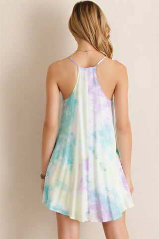 Pastel Watercolor Dress - Lemon Combo - Blue Chic Boutique  - 4