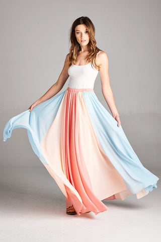 Twirlable Maxi Skirt - Coral - Blue Chic Boutique  - 1