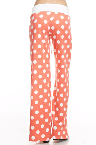 Casual Polka Dot Pants - Coral - Blue Chic Boutique  - 2