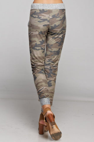 Camo Jogger with Solid Trim - Brown and Olive - Blue Chic Boutique  - 3