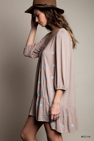 Summer Concert Boho Dress - Taupe - Blue Chic Boutique  - 2