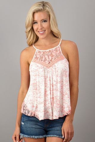Swing Fling Tank Top - Pink - Blue Chic Boutique  - 1