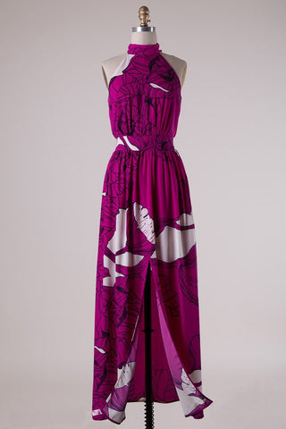 Tropical Breeze Maxi Dress - Magenta - Blue Chic Boutique  - 1