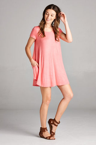 Free Flowin' Dress - Pink - Blue Chic Boutique  - 1