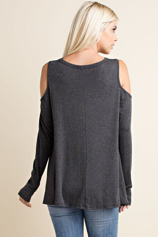 Winery Tour Top - Charcoal - Blue Chic Boutique  - 3