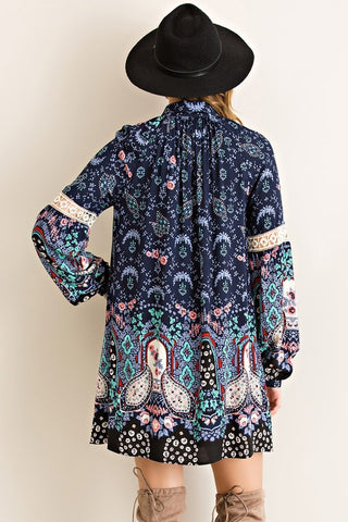 Paisley Dreams Dress - Navy - Blue Chic Boutique  - 2