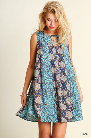 Shades of Blue Dress - Blue Chic Boutique  - 1