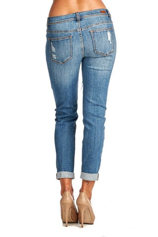 Medium Wash Distressed Jeans - Blue Chic Boutique  - 2