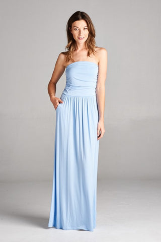 Simple and Stylish Maxi Dress - Light Blue - Blue Chic Boutique  - 1
