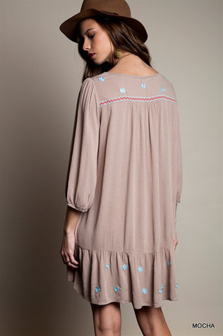 Summer Concert Boho Dress - Taupe - Blue Chic Boutique  - 3