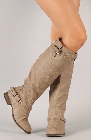 Double Buckle Boots - Beige - Blue Chic Boutique  - 1