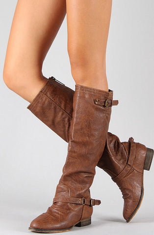 Double Buckle Boots - Tan - Blue Chic Boutique  - 1