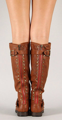 Outlaw Boots - Chestnut - Blue Chic Boutique  - 1