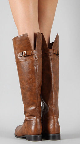 Tall Riding Boots - Tan - Blue Chic Boutique  - 2