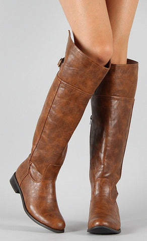 Tall Riding Boots - Tan - Blue Chic Boutique  - 3