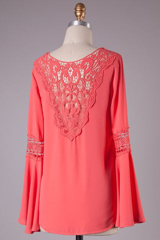 Coral Tunic Top - Blue Chic Boutique  - 1