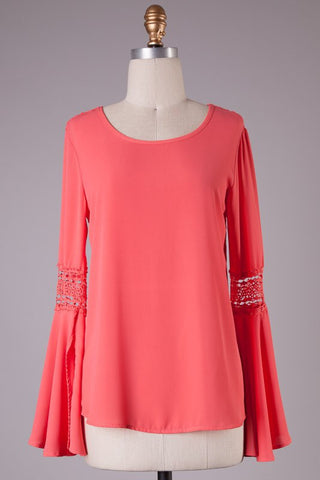 Coral Tunic Top - Blue Chic Boutique  - 2