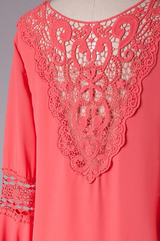 Coral Tunic Top - Blue Chic Boutique  - 4