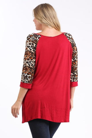 Leopard Printed Top - Black - Blue Chic Boutique  - 2
