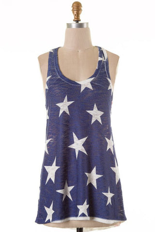 Patriotic Tank Top - Blue Chic Boutique  - 1