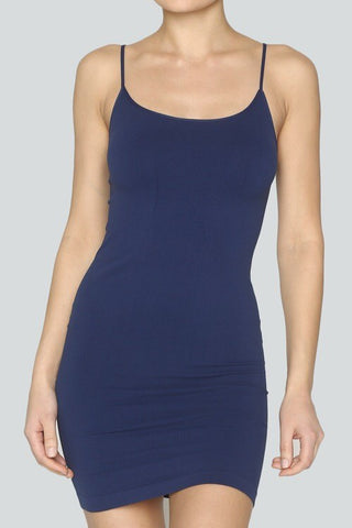 Seamless Camisole/Slip - Navy - Blue Chic Boutique  - 2