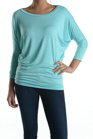 The Perfect Tunic Top - 17 colors - Blue Chic Boutique  - 1