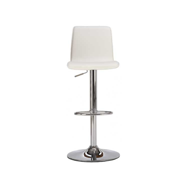 Modern, white leather Kitchen barstool | seattle furniture
