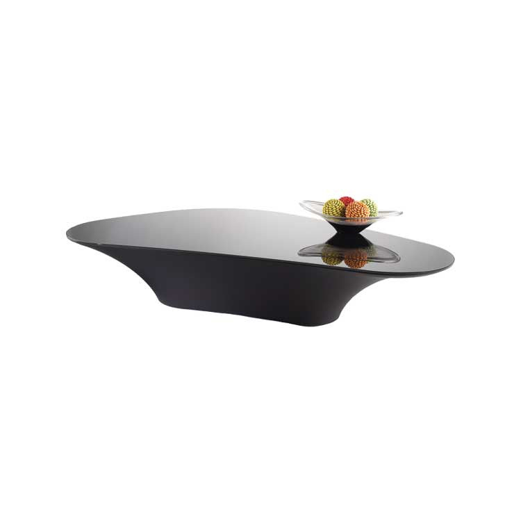 Black Modern glass cocktail table - black coffee table - Seattle Furniture
