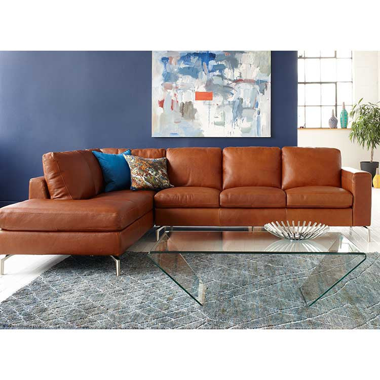 Affordable Modern Sectional   Leather Sectional, Sofa And Ottoman   Seattle  Furniture